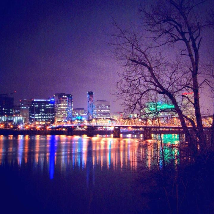Down Town Portland At Night