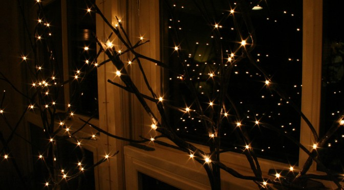 Christmas lights' romance