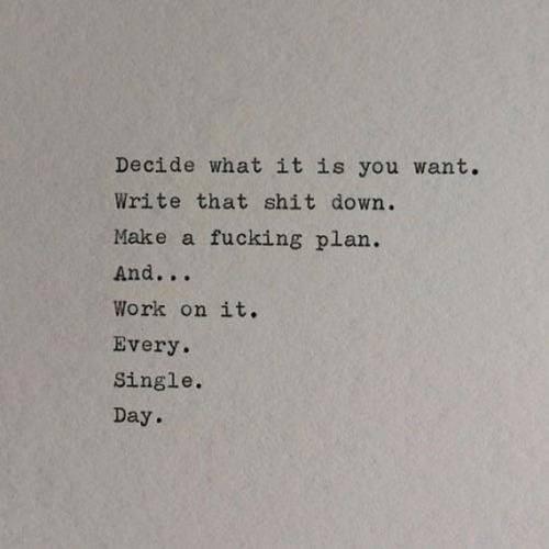 Priorities.. Goals..