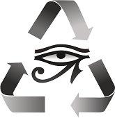 Reincarnation Symbol with Horus Eye