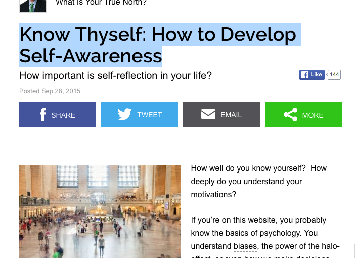 Know Thyself: How to Develop Self-Awareness by Bill George