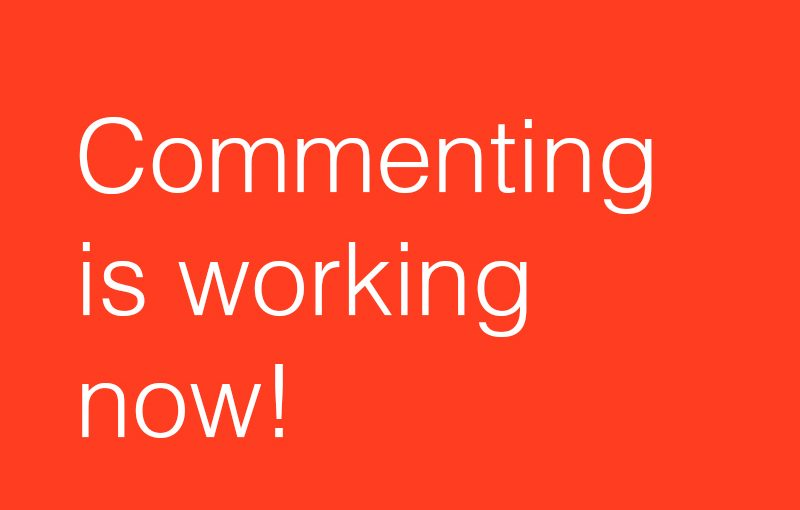 Commeting is working now!